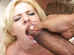 Interracial Gang Bang With Cock Addicted Blonde