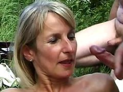 Cumaholic Mature Sucking Cock and..