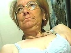 Lascivious Glassed Granny Gives Hot..