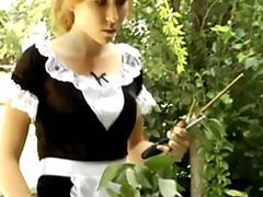 BDSM-Loving Blonde Maid Gets Her Juicy..