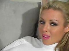 Stunning Blonde Kayden Kross Strips To..