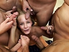 Leah Wilde Bukkake Party Blowjob and..