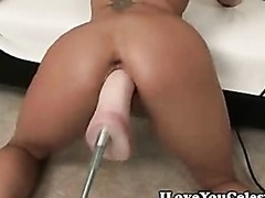 Celeste Mulet Gets a Sybian Cock In..