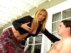 Hot Blond MILF Banging Her Son's Friend