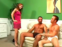 Bisexual Threesome Featuring Two Guys..