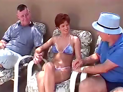 Mature Amateur Takes on Several Guys..