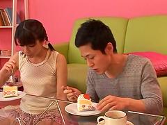 Asian Girl Gets a Sticky Dessert When..