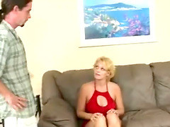 Mature Blonde Gets Her Ass Paddled..