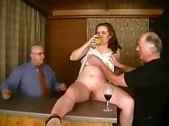 Amateur Teen gets Rammed By Old Men In..