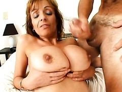 Busty MILF Gets Her Round Tits Creamed..