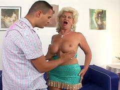 Old Renata enjoys wild sex with..