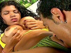Lorina gets her Brazilian pussy licked..