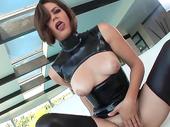 Rough sex with the hot brunette Bobbi Starr