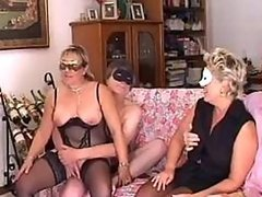 Amateur Lesbian Matures Go Wild In a..