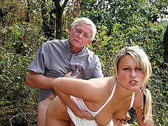 Old Man and Mature Woman Have a Hot..