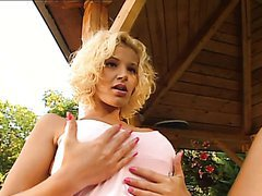 Gorgeous Short Haired Blonde Gets A..