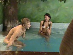 Horny Babe Sabina Fucks By the Pool