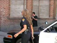 Naughty Cop Julia Ann Fucked Her..