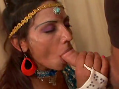 Indian girl gets her shaved pussy..
