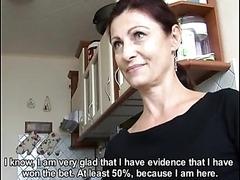 Horny Mature Czech Slut Sucks Cock on..