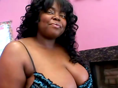 Chanel Diamond the ebony BBW fucks in interracial video
