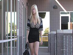 Busty blond model Danielle is..