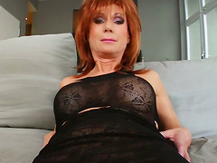 Mature Nina gets facialed massively..