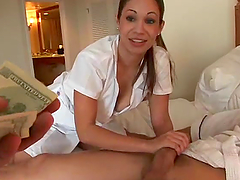 Sexy masseuse agrees to have sex with..