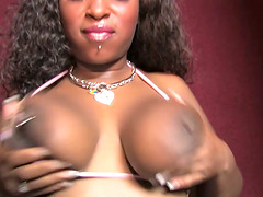 Ebony With Huge Natural Tits Get..