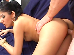 Playful Indian girl gets her smooth..