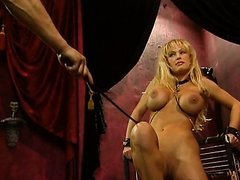 Captive Blonde Babe Gets Tied Up and..