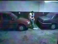 Horny Couple Fucking In The PArking..