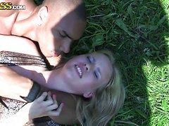 Interracial Public Sex With A Horny..