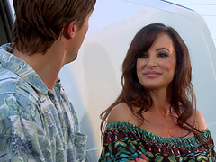 Rough sex with the busty milf Lisa Ann