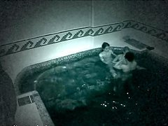 Naughty Lesbian Threesome In The Pool..