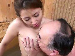 Sakiko Mihara?s nipple gets licked by..