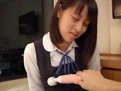 Great Footjob By The Asian Teen Yuika..