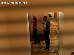Corridor Action With A horny Couple In..