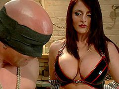 Hot Femdom Action With Busty Redhead