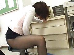 Asian Secretary Masturbating In Her..