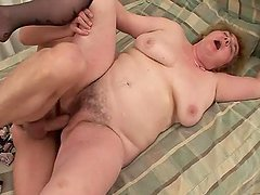 Chubby Old Grandma Gets Her Pussy..