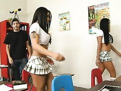 Mini Skirt Sluts Audrey Bitoni And..