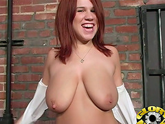 Cute Redhead Chick With Huge Natural..