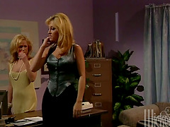 Jill Kelly the office chick gets..