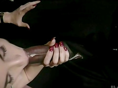 Orgy in a wild retro porn video with..