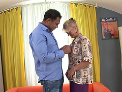Granny likes black cock in her fuckin'..