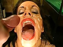 Wild babe ravaged by two guys