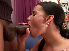 Slut gets her hairy pussy fucked &..