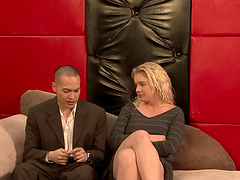 Dude hypnotizes chick and sexs her up
