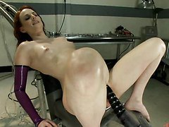 Shaved Pussy Redhead Drilled By..